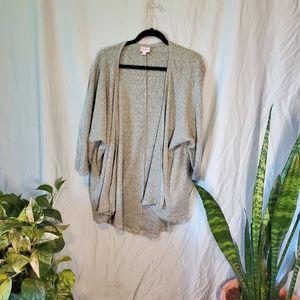 Lularoe Lindsay Sea Foam Green 3/4 sleeve Kimono